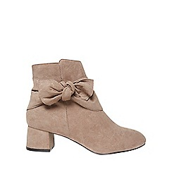 Dorothy Perkins - Wide fit taupe alba bow boots