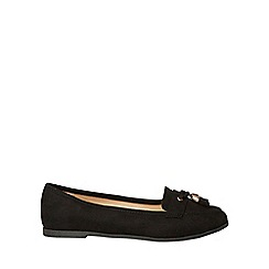 Dorothy Perkins - Wide fit black microfibre larissa loafers