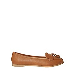 Dorothy Perkins - Wide fit tan polyurethane larissa loafers