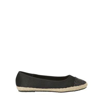 Dorothy Perkins - Wide fit black carrie espadrilles