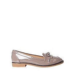 Dorothy Perkins - Wide fit grey lizzy loafers