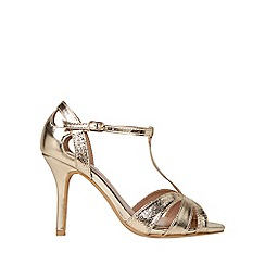 Dorothy Perkins - Wide fit gold brooklyn sandals