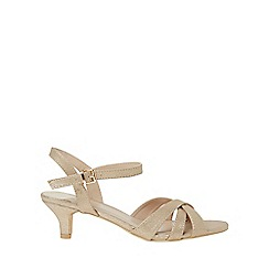 Dorothy Perkins - Wide fit gold swing sandals