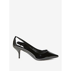 Dorothy Perkins - Wide fit black eve court shoes