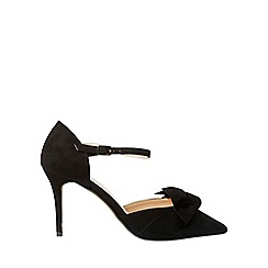 Dorothy Perkins - Wide fit black gardenia court shoes