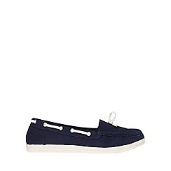 Dorothy Perkins - Wide fit navy loat loafers