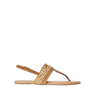 Dorothy Perkins Wide Fit WIDE FIT FITCH - T-bar sandals - tan