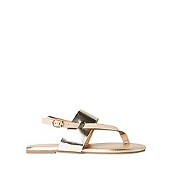 Dorothy Perkins - Wide fit nude future sandals