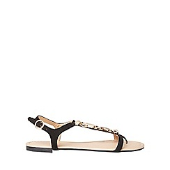 Dorothy Perkins - Wide fit black famous sandals