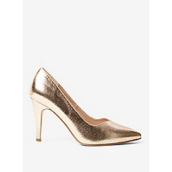 Dorothy Perkins - Wide fit gold microfibre drake court shoes