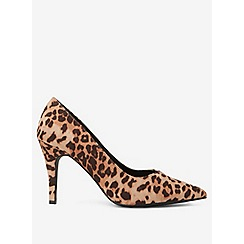 Dorothy Perkins - Wide fit multi coloured leopard print microfibre drake court shoes
