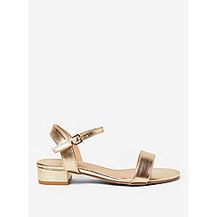 Dorothy Perkins - Wide fit gold spirit block heel sandals