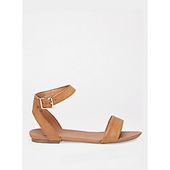 Dorothy Perkins - Wide fit tan comfort fran sandals