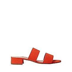 Dorothy Perkins - Wide fit orange storm mules
