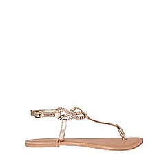 Dorothy Perkins - Wide fit gold leather farah sandals