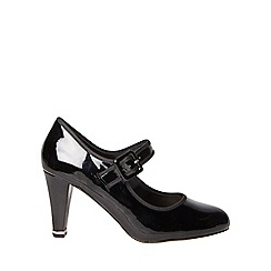 Dorothy Perkins - Wide fit black erica court shoes