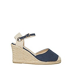 Dorothy Perkins - Wide fit navy raven wedges