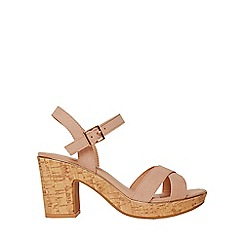 Dorothy Perkins - Wide fit blush romy sandals