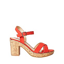 Dorothy Perkins - Wide fit coral romy sandals