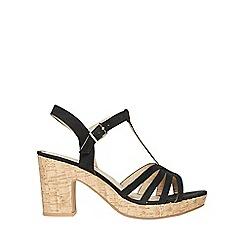 Dorothy Perkins - Wide fit black rebecca wedge sandals