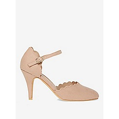 Dorothy Perkins - Wide fit nude erin court shoes