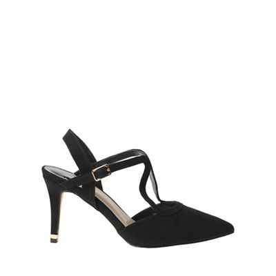 Dorothy Perkins - Wide fit black glow strappy court shoes