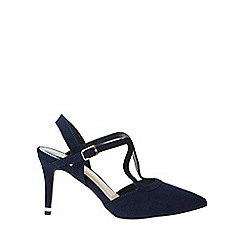 Dorothy Perkins - Wide fit navy glow strappy court shoes