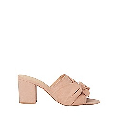 Dorothy Perkins - Wide fit blush solo mules
