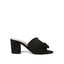Dorothy Perkins - Black wide fit solo mules