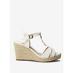 Dorothy Perkins - Wide fit white razzle wedges