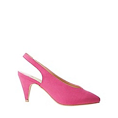 Dorothy Perkins - Wide fit pink emma 80's slingback court shoes