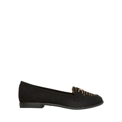 Dorothy Perkins - Wide fit black 'Lavinia' studded loafers