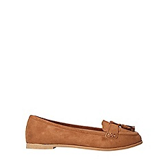Dorothy Perkins - Wide fit tan lane loafers