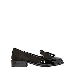 Dorothy Perkins - Wide fit black libra loafers