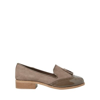 Dorothy Perkins - Wide fit taupe libra loafers