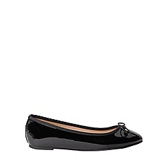 Dorothy Perkins - Wide fit black patent pandora pumps