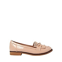 Dorothy Perkins - Wide fit nude lotta loafers