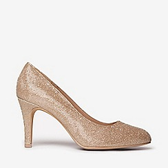 Dorothy Perkins - Wide fit gold dallas court shoes
