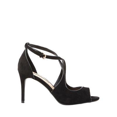 Dorothy Perkins - Wide fit black microfibre brea sandals