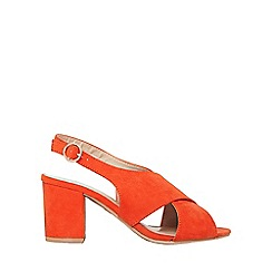 Dorothy Perkins - Wide fit orange simone heeled sandals