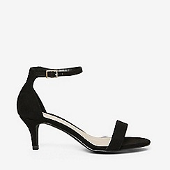 Dorothy Perkins - Wide fit black sunset kitten heel sandals