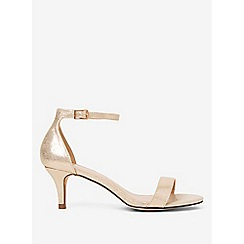 Dorothy Perkins - Gold Polyurethane Sunset Kitten Heels