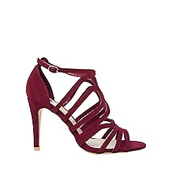 Dorothy Perkins - Wide fit burgundy blossom sandals