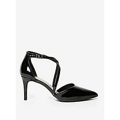 Dorothy Perkins - Wide fit black patent elsa court shoes