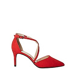 Dorothy Perkins - Wide fit red elsa crossover court shoes
