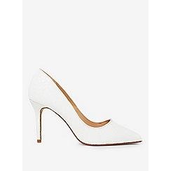 Dorothy Perkins - Showcase wide fit ivory gaze court shoes