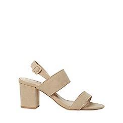 Dorothy Perkins - Wide fit taupe sadie sandals
