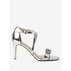 3e76ca5717cf Dorothy Perkins - Wide fit silver exclusive blissful heeled sandals