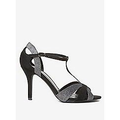 Dorothy Perkins - Wide fit black brooklyn heeled sandals