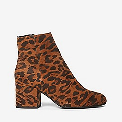 Dorothy Perkins - Wide fit multi coloured leopard design aubree ankle boots